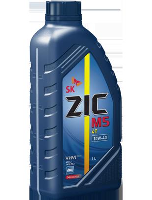 ZIC M5 4T 10W-40 (п/синт JASO MA2) 1л